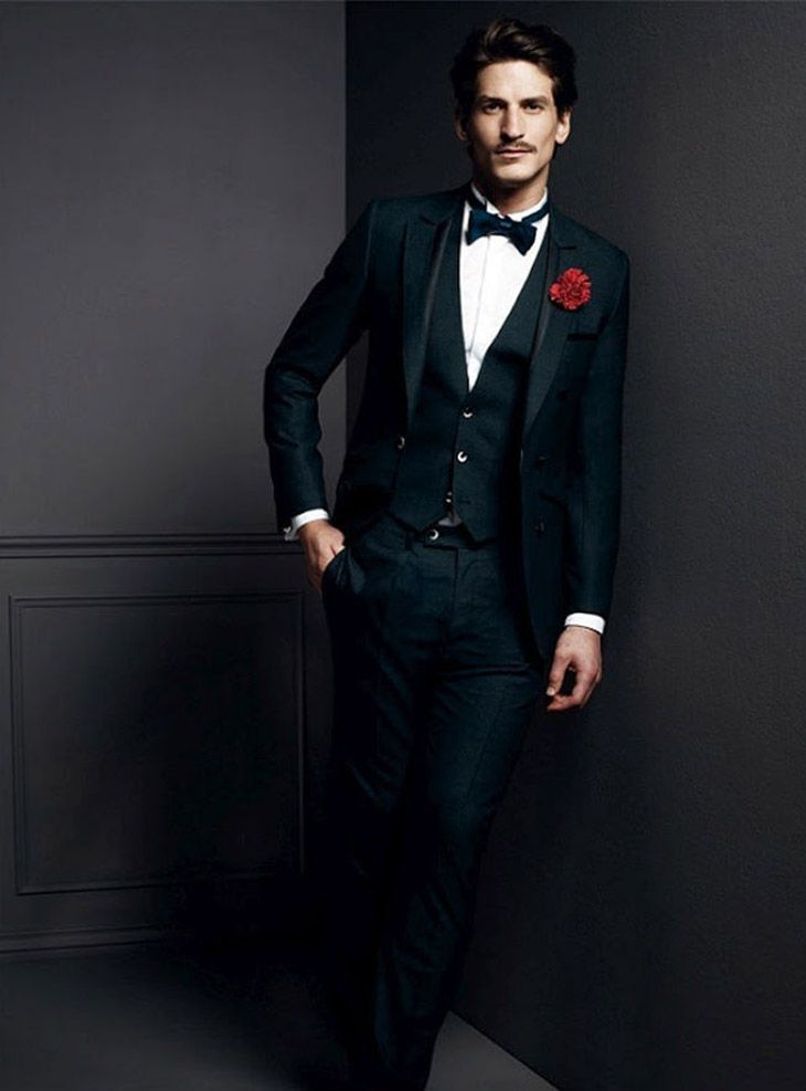 groom suit - bow tie - black suit #wedding | Wedding Fashion ...