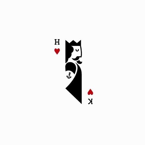 Poker King Google Search Playing Cards Design Logo Design Creative Logo Illustration