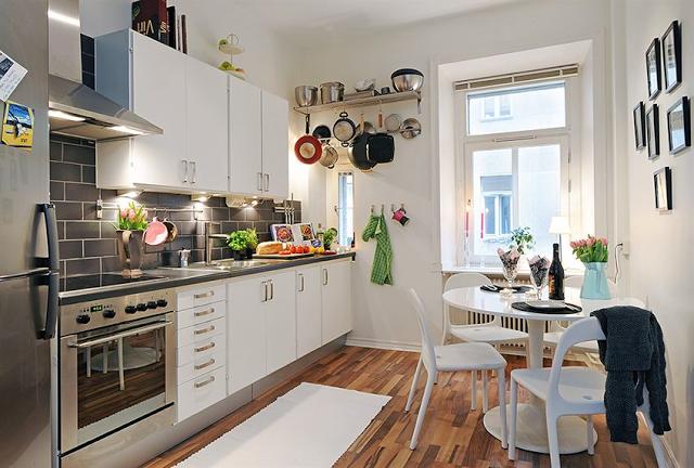 hacer de una cocina estrecha un espacio funcional
