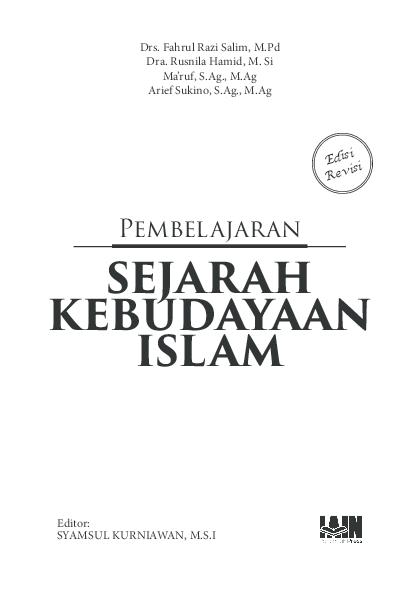 Pdf Pembelajaran Sejarah Kebudayaan Islam Syamsul Kurniawan Academia Edu Sejarah Belajar Budaya