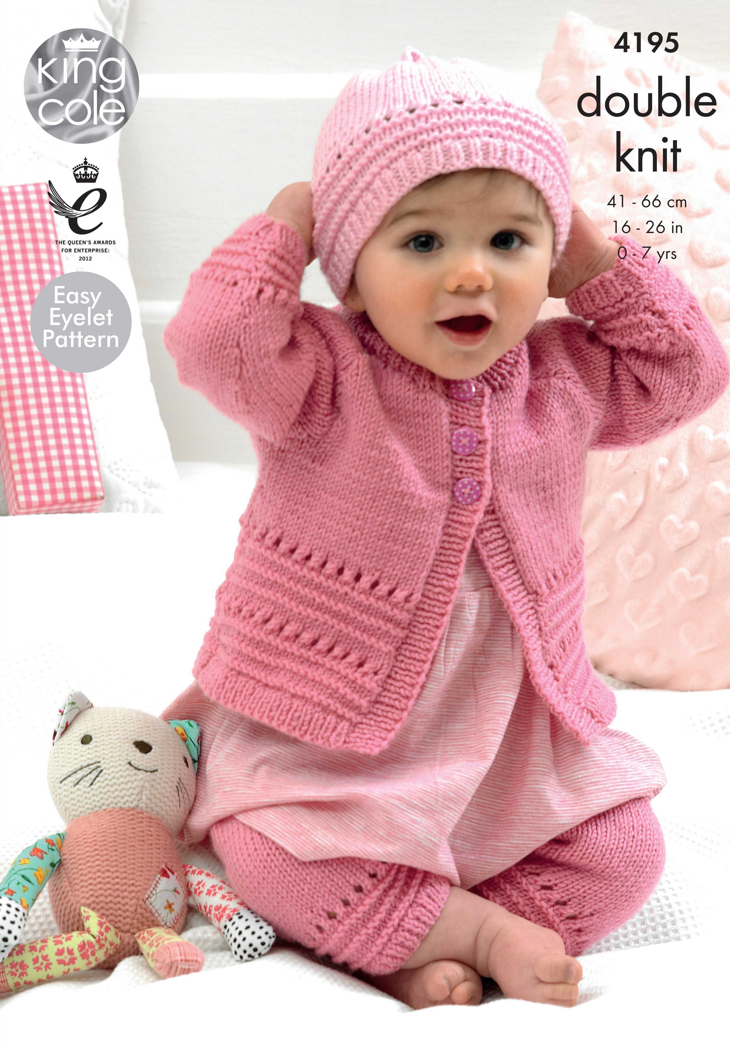 Babies Knitted Coat, Hat and Leggings - King Cole | Baby ...