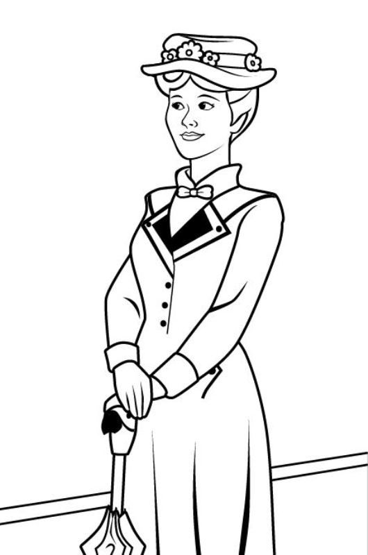 Kids-n-fun   17 coloring pages of Mary Poppins   SVG Files ...
