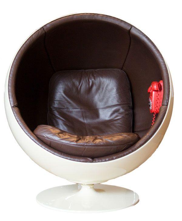 Ball Chair Le Fauteuil Cuir De Avec Téléphone Fauteuil Cuir - Fauteuil bulle