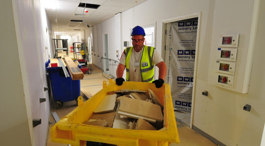 Ceiling Recycling Programme Birmingham Hospital A Sustainable Off
