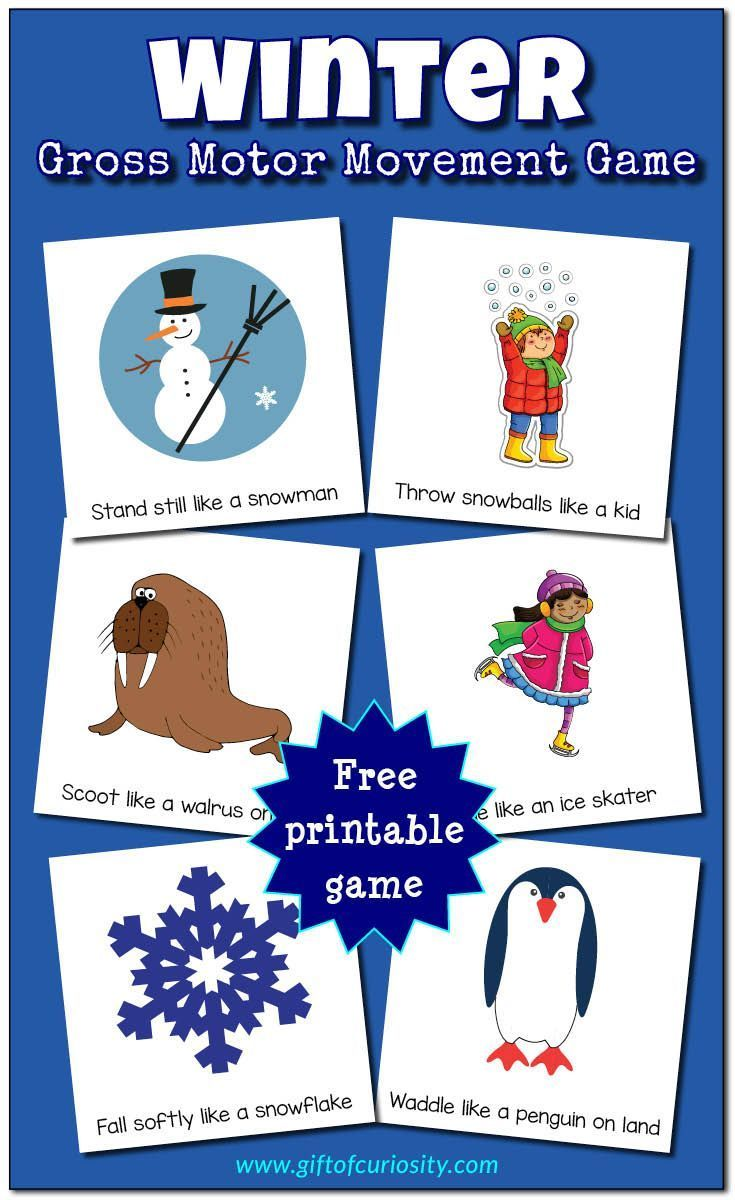 Photo of Winter Gross Motor Movement Game {free to print – #activities #printable …