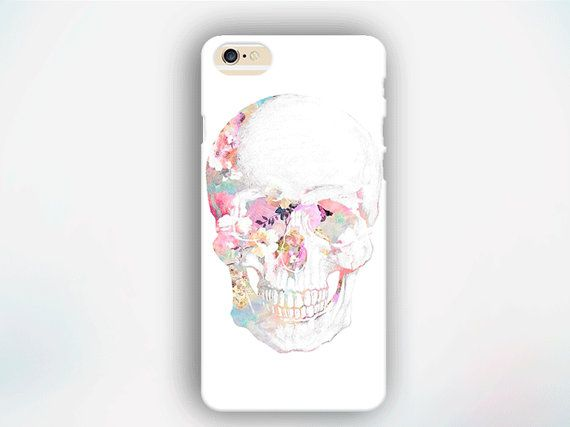 Flower Skull Iphone Case Pink Iphone Case Boho Por Urbanblossomes
