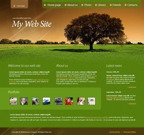 Website Templates 4278  Nature & Landscapes  Website Templates  Dreamtemplate