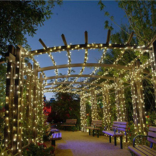 Qedertek 200 LED Solar String Lights, 72ft Fairy Garden Lights Decorative  Lighting For Home,