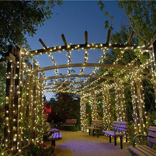 Qedertek 200 LED Solar String Lights, 72ft Fairy Garden Lights Decorative  Lighting For Home,
