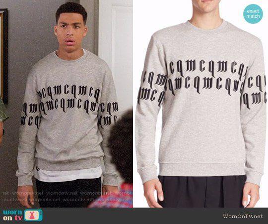 30f270e558 Junior s mcq sweatshirt on Black-ish. Outfit Details  https   wornontv
