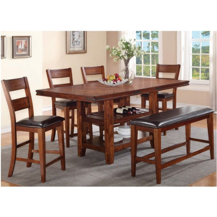 Sierra Ridge Dining Counter Height Table 4 Chairs 2700