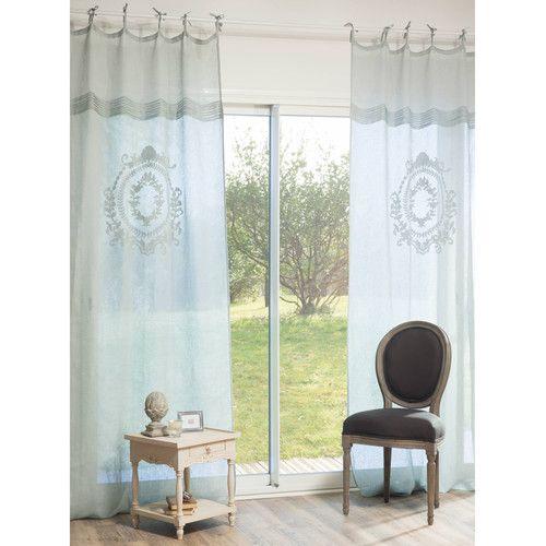 Tenda Blu In Lino 105 X 270 Cm Volanges Maison Du Monde