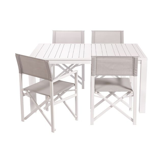 Table De Jardin En Metal Batang 151 X 100 Cm Blanc Castorama Table De Jardin Table De Balcon Mobilier Jardin