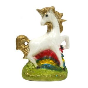 Unicorn Chalkware, $32, now featured on Fab.