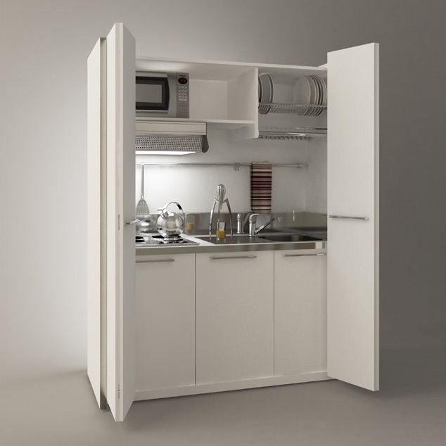 Minicucina a scomparsa zeus minicucina a scomparsa by mobilspazio cucine mini pinterest - Cucine per miniappartamenti ...