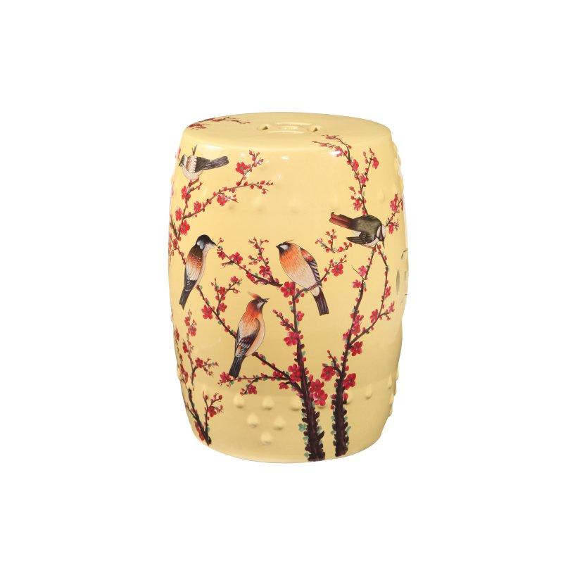 Excellent Outdoor Abbyson Raiden Hand Painted Birds Ceramic Garden Lamtechconsult Wood Chair Design Ideas Lamtechconsultcom