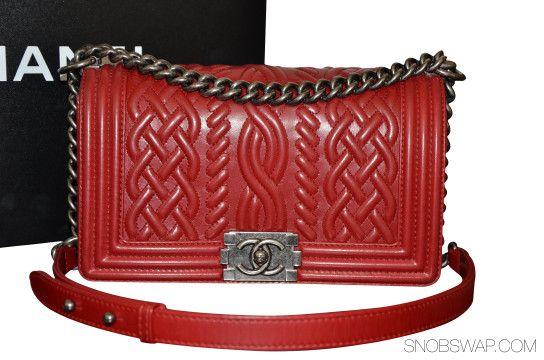 379dbed8ad2e Chanel | 100% AUTH EUC CHANEL MEDIUM RED CELTIC LE BOY LAMB SHW 13A SOLDOUT
