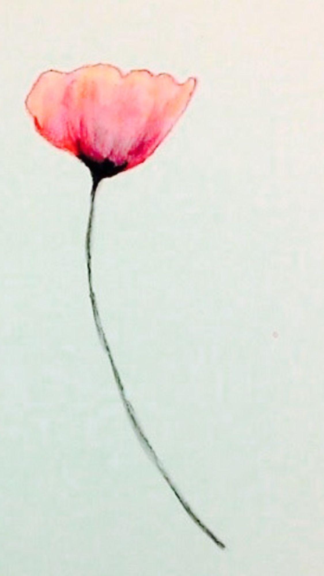 California poppy   Poppies tattoo, Poppy tattoo small ...