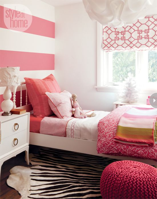 High/low Precious pink girl's bedroom Pink bedroom