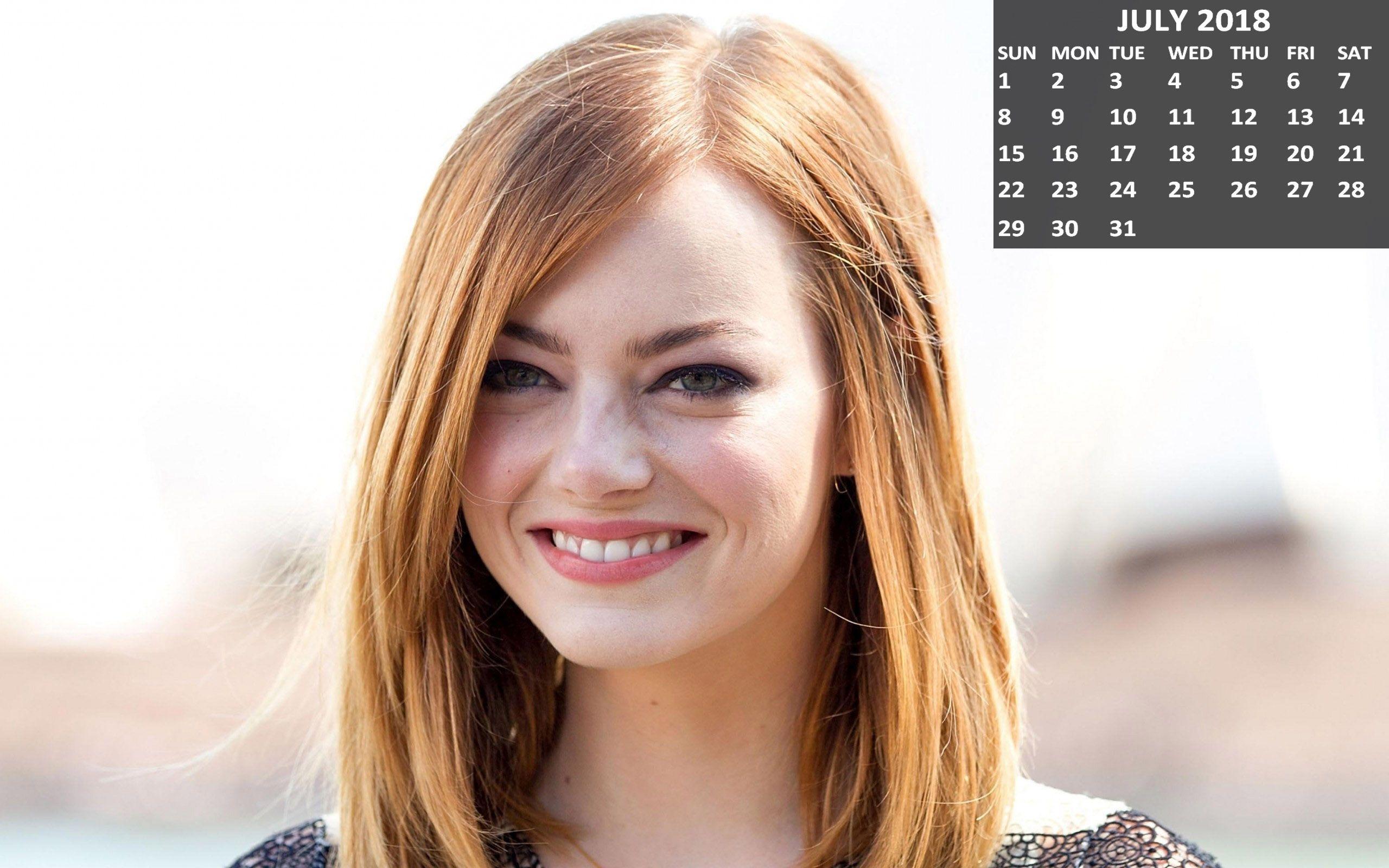 cute emma stone july 2018 calendar | 2018 calendars | pinterest