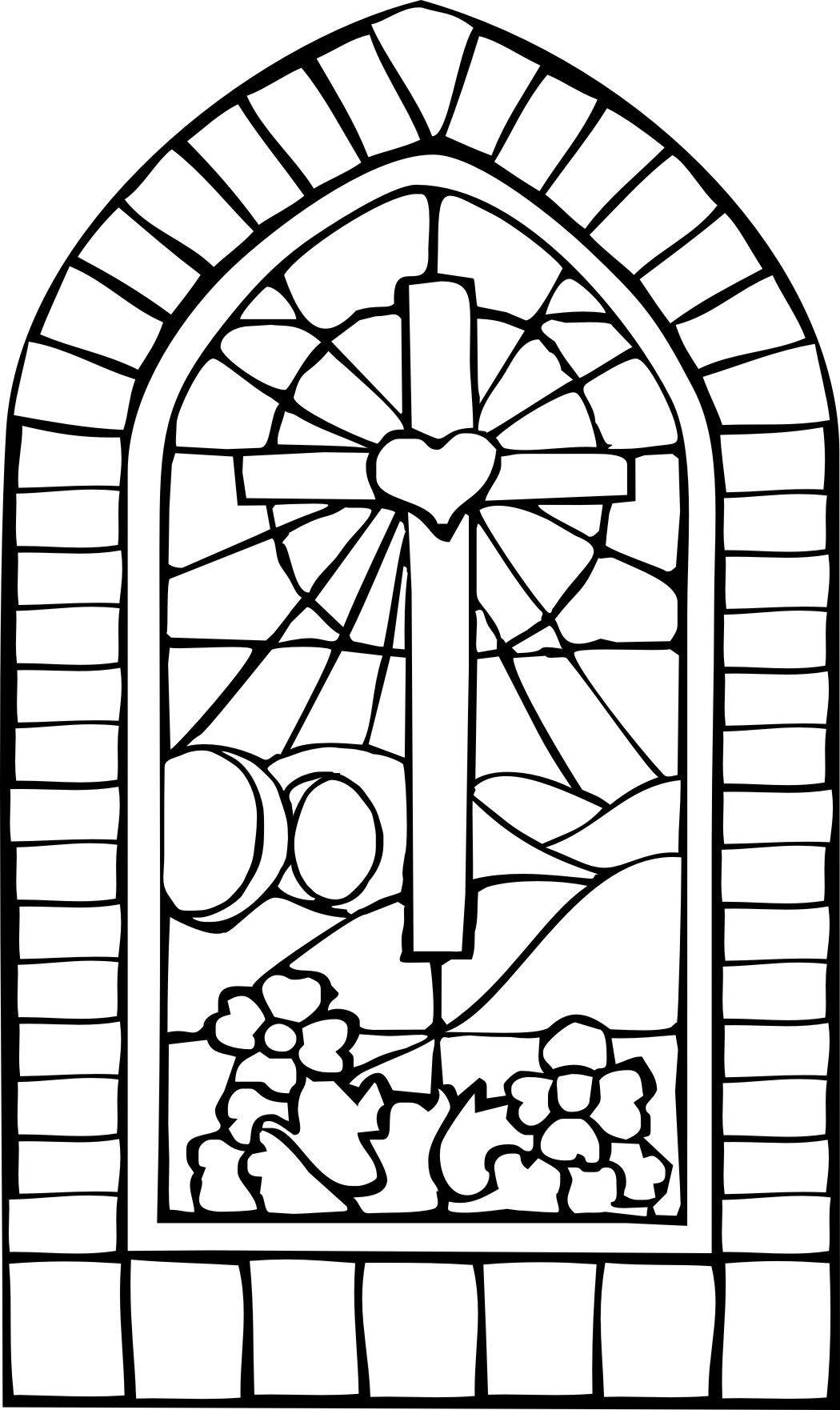 religious stained glass coloring pages - photo#17