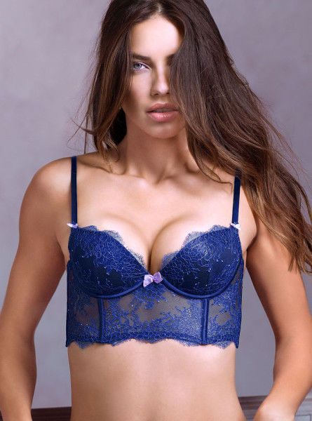 186386cf2004d Victoria s Secret Very Sexy Chantilly Lace Long Line Push-Up Demi Bra 32C  NWT