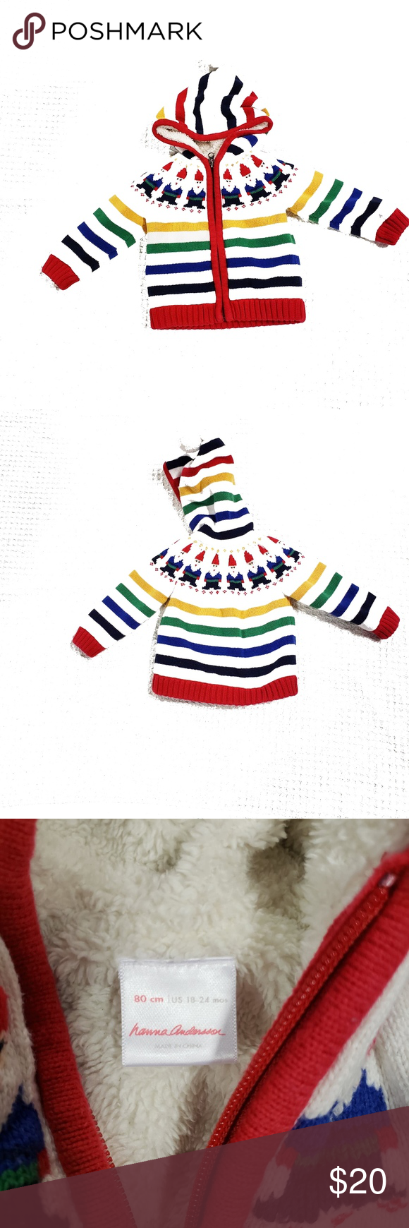 67905f81d65a Hanna Andersson Gnome Sweet Gnome Sweater Jacket Hanna Andersson ...