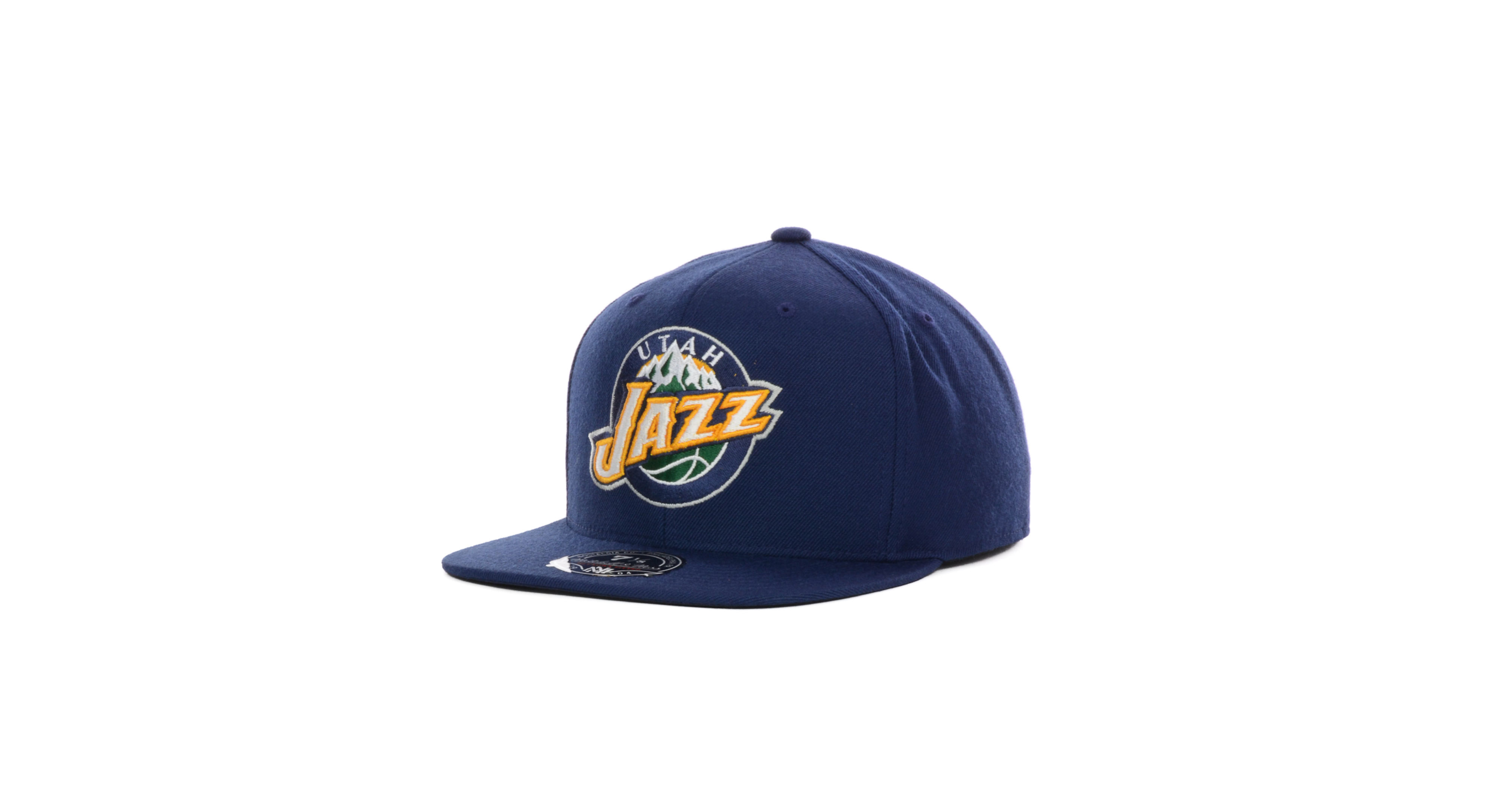 online store 82c95 870df Mitchell & Ness Utah Jazz Current Logo Fitted Cap | Products ...