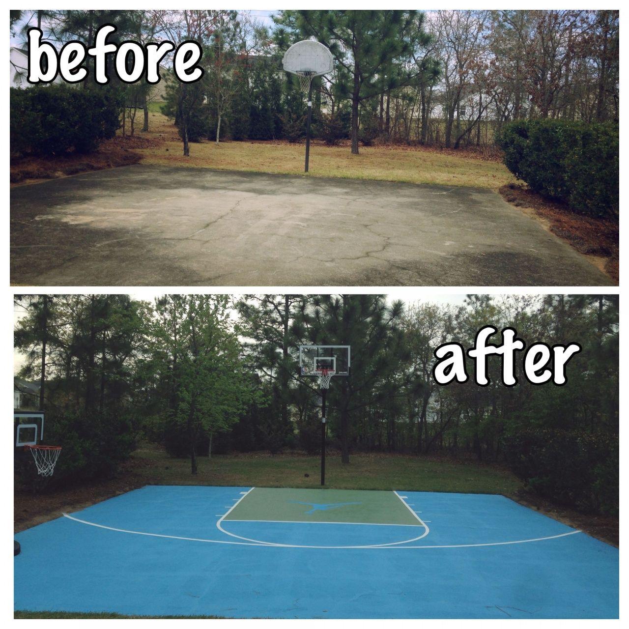 Backyard Basketball Court No Concrete Basketball Court Backyard Backyard Basketball Diy Basketball Court