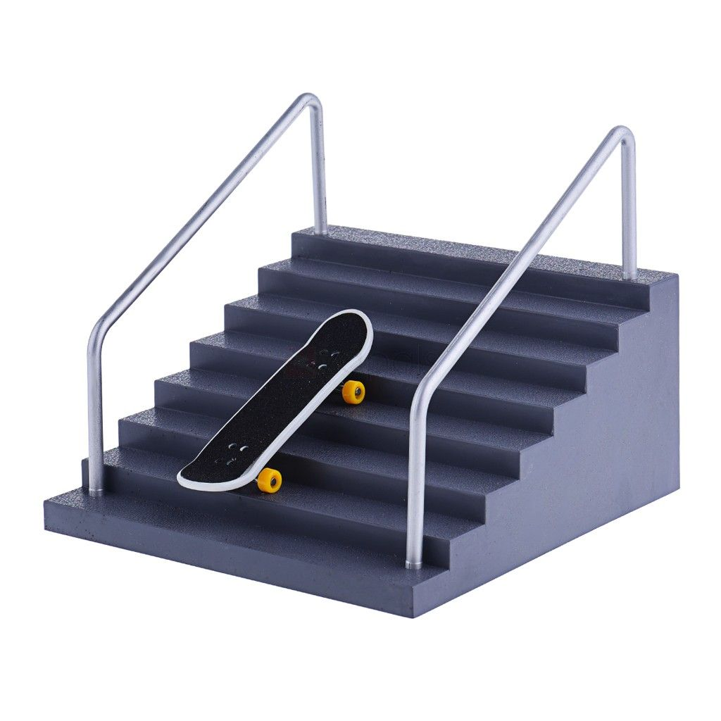 Finger Skateboard Skatepark Set Handrail Stair Ramp This Mainan Anak Tech Deck Board Is The Perfect Starter Or Add On For Your Fingerboard