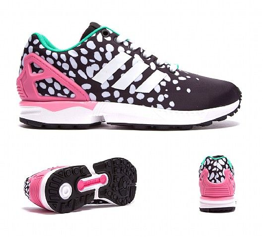 adidas zx flux womens black and pink