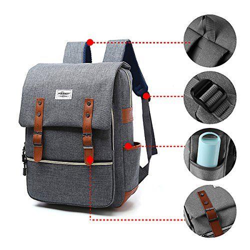 e918908525 Amzbag Convertible Backpack Laptop Messenger Bag Book Bag School Bag  Shoulder Bag Laptop Case Handbag 15.6 ...