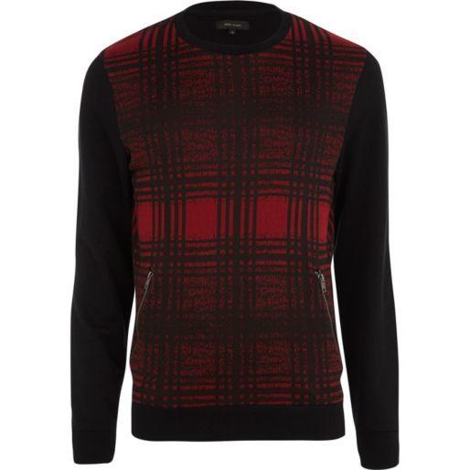 Red check sweatshirt - sweatshirts - hoodies / sweatshirts - men