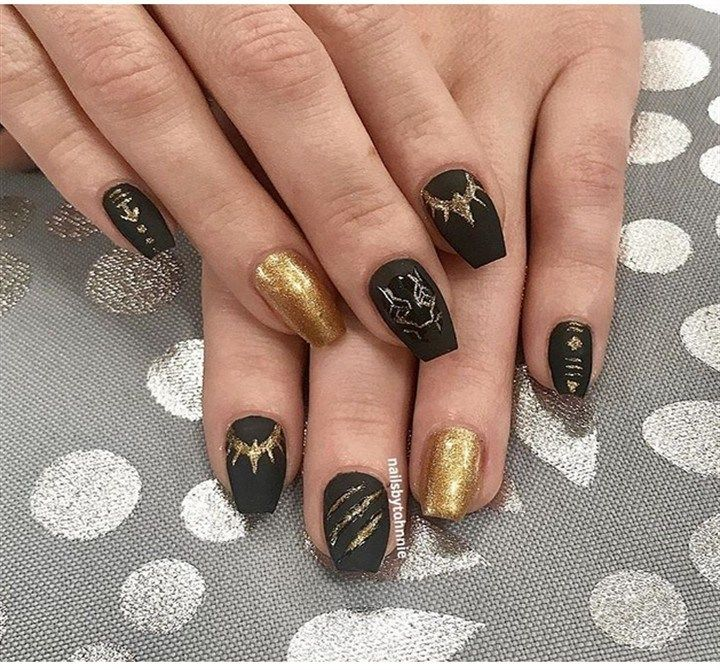 Trendy Black Panther Nail Art that are straight out of Wakanda - Trendy Black Panther Nail Art That Are Straight Out Of Wakanda