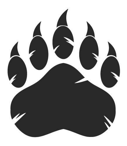 Bear Paw With Claws On Behance Mascot Branding And Logos