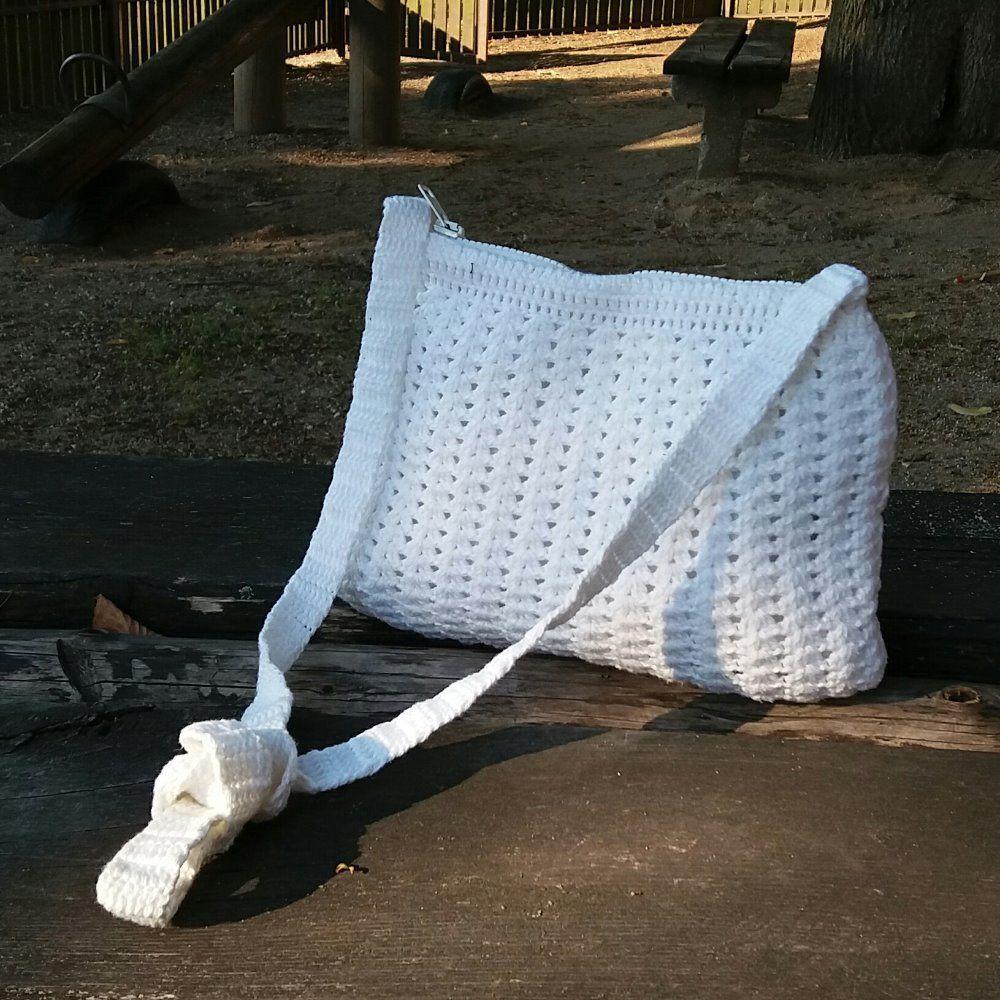 SNĚHURKA+Originální+háčkovaná kabelka+z+bavlny+vhodná+do+města ce919e83666