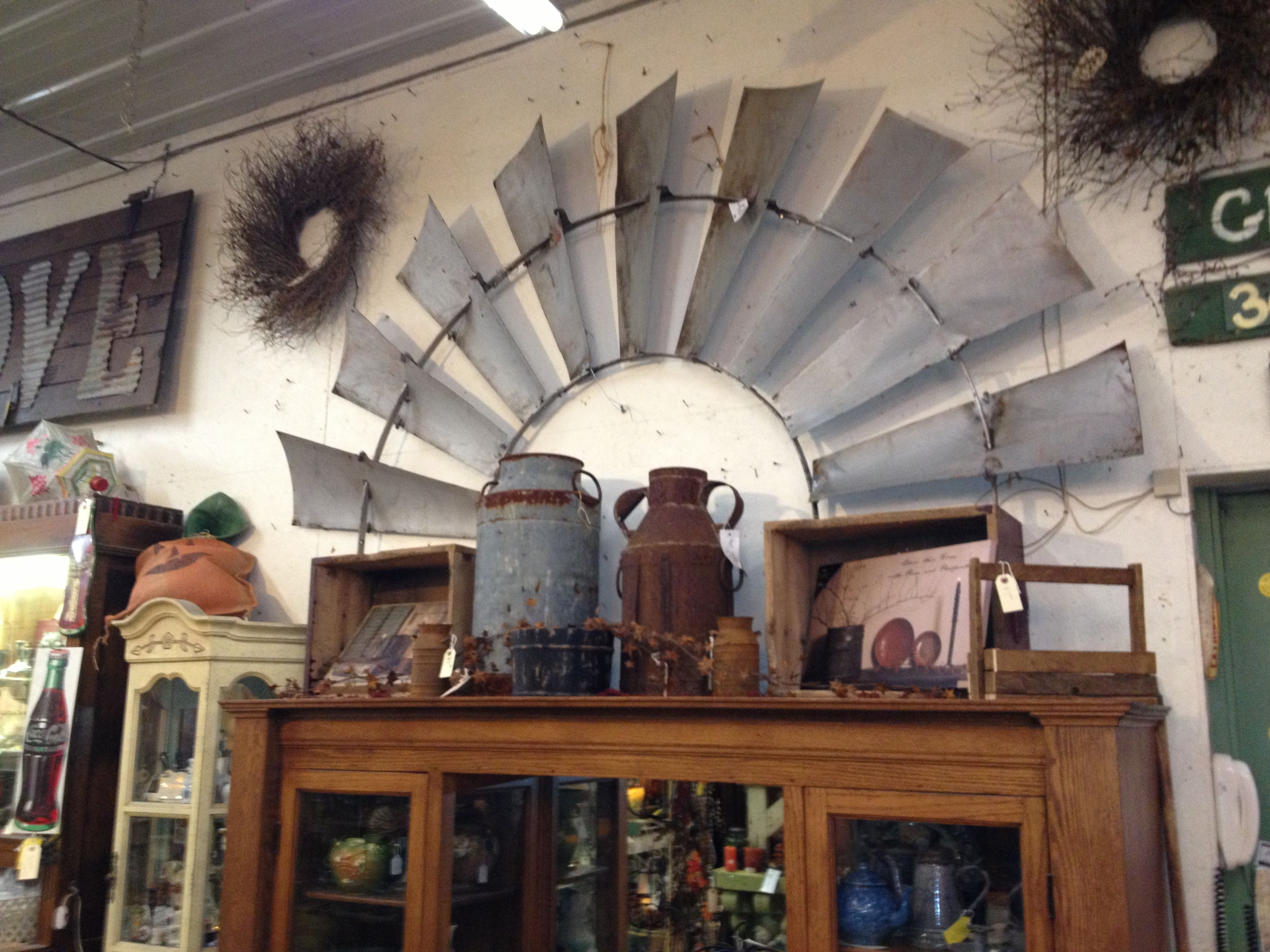 up on the wall... Green oaks, Antiques, Antique stores