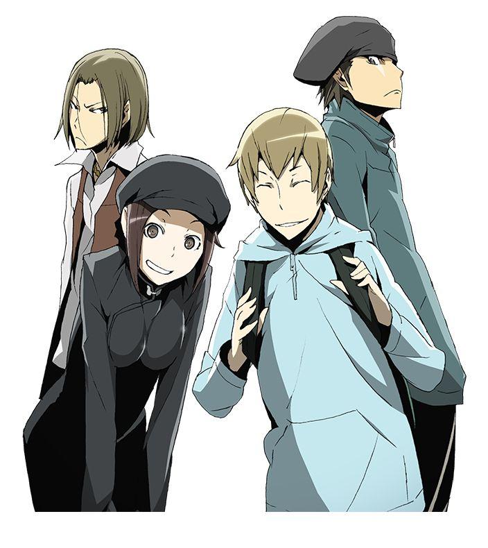 DURARARA!! Dollars member: Yumasaki Walker, Saburou Togusa, Karisawa Erika, Kadota Kyouhei