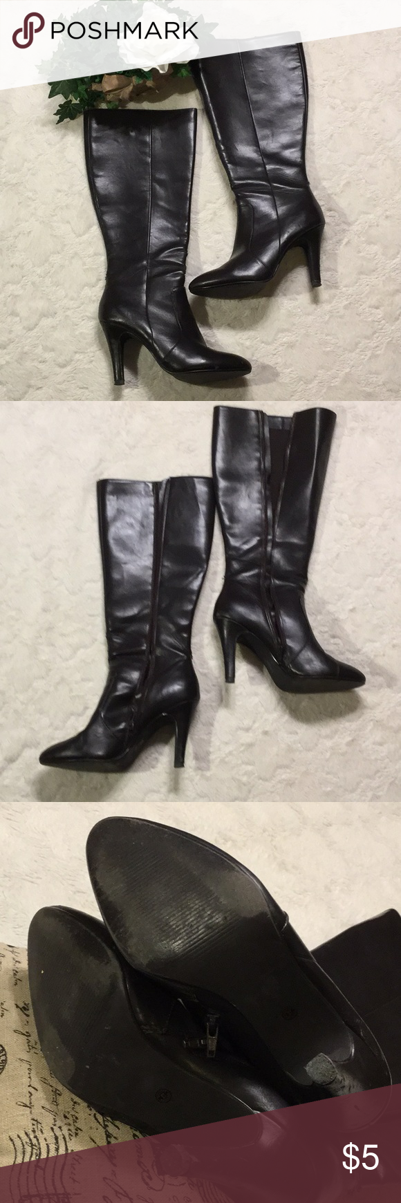 554c7e2175a Pre-Loved Worthington Brown Faux Leather Boots, 9M in 2018 | My Posh ...