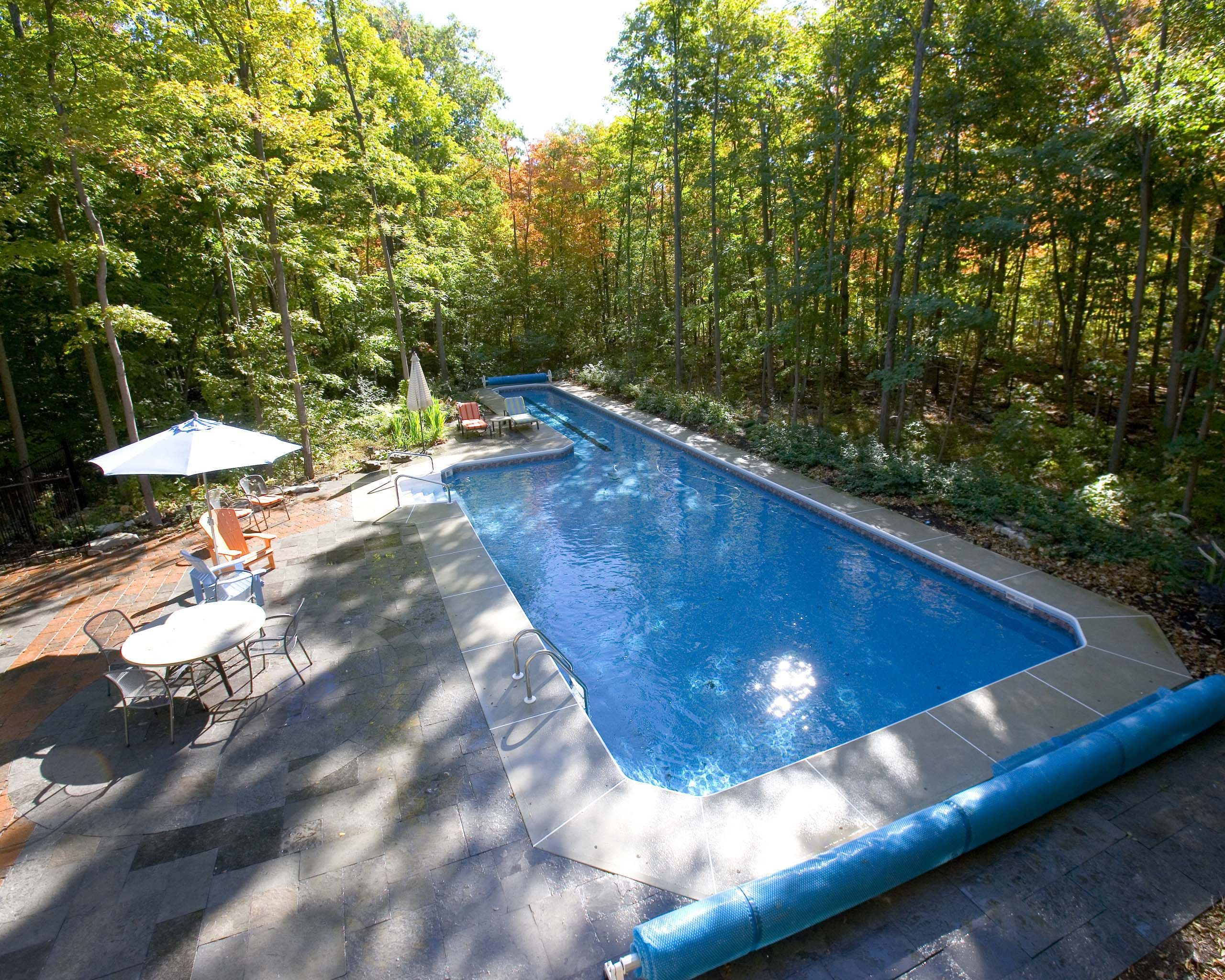 Pool With Lap Lanes And For Play Area Google Search Inground Pools Pool Swimming Pool House