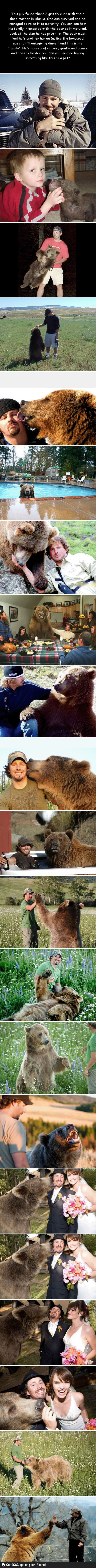 The story of a man and a bear. I want one!