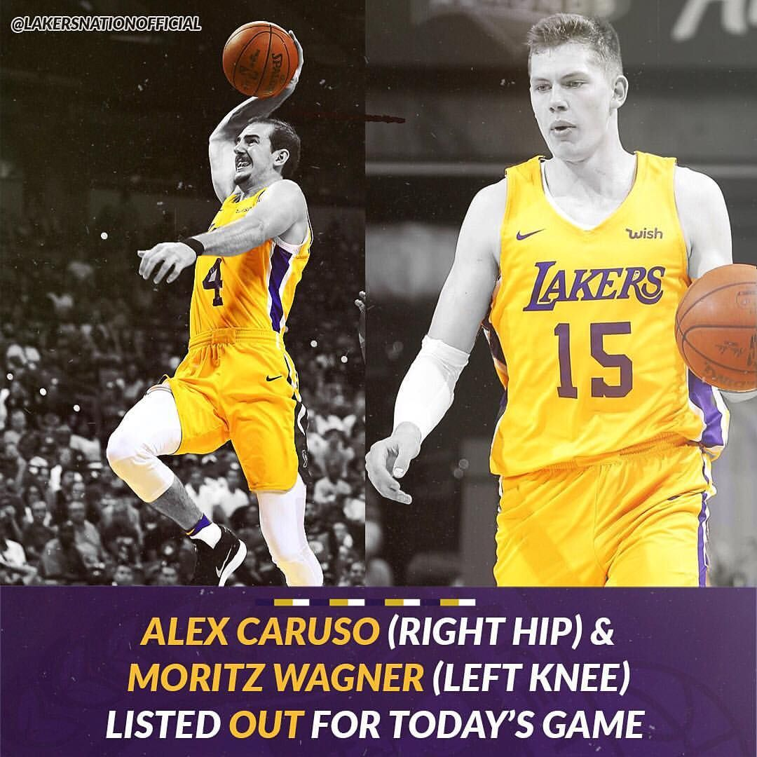 Injury Report Alex Caruso And Moe Wagner Are Both Out For Tonight S Season Opener Lakersnation Injury Report Caruso Wagner