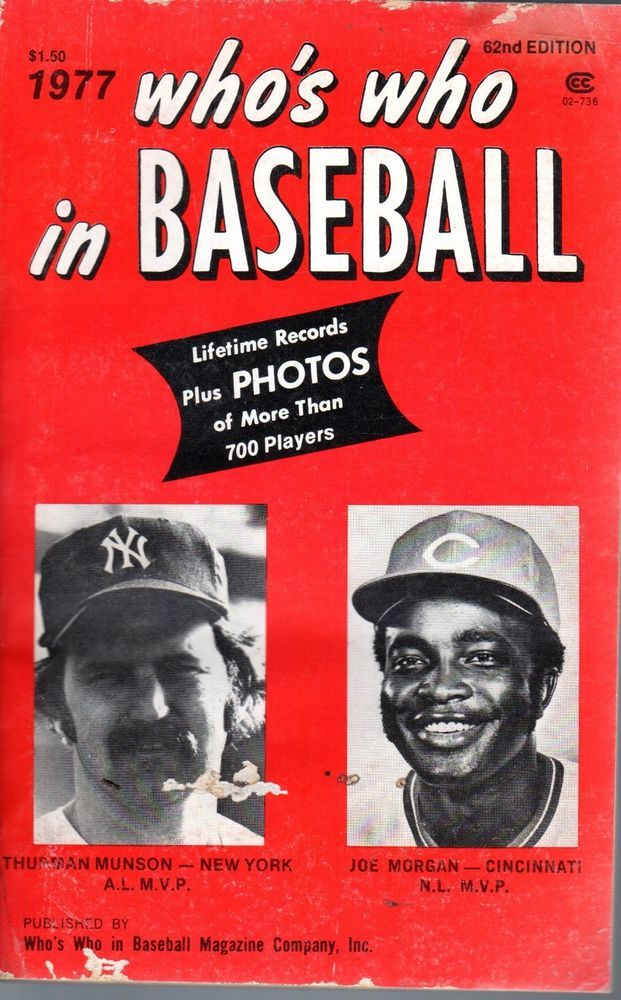1977 Who S Who In Baseball Magazine Thurman Munson Yankees Joe Morgan Reds Fr Ebay Thurman Munson Joe Morgan Munson