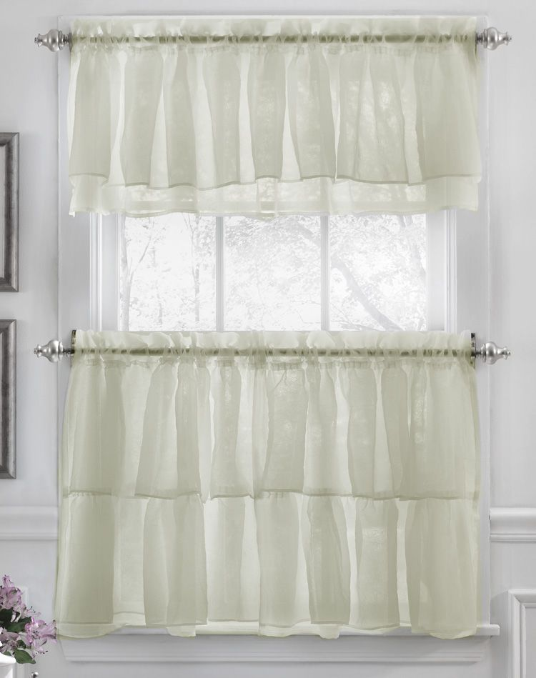 Gypsy Curtains Are An Elegant Ruffled Tier Curtain And Valance Separates  Collection. #Sheer #Kitchen #Curtains