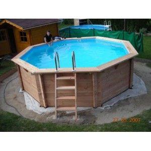 piscine bois hexagonale hors sol