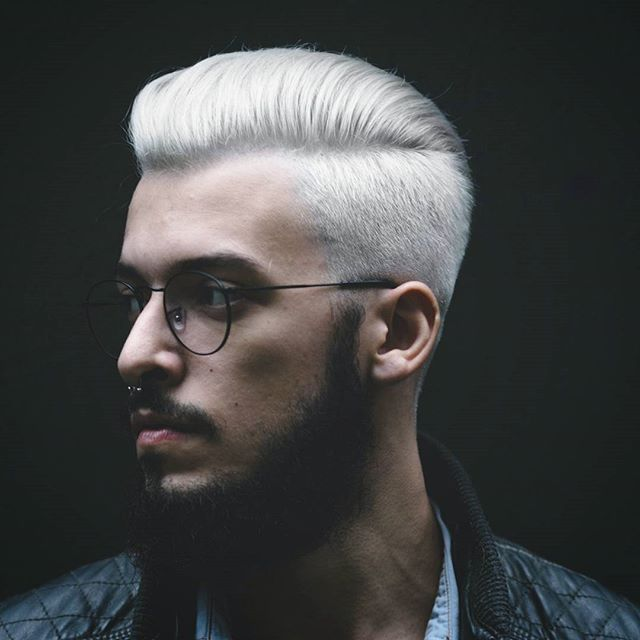 White Haircolor For Men Men Blonde Hair Men Hair Color