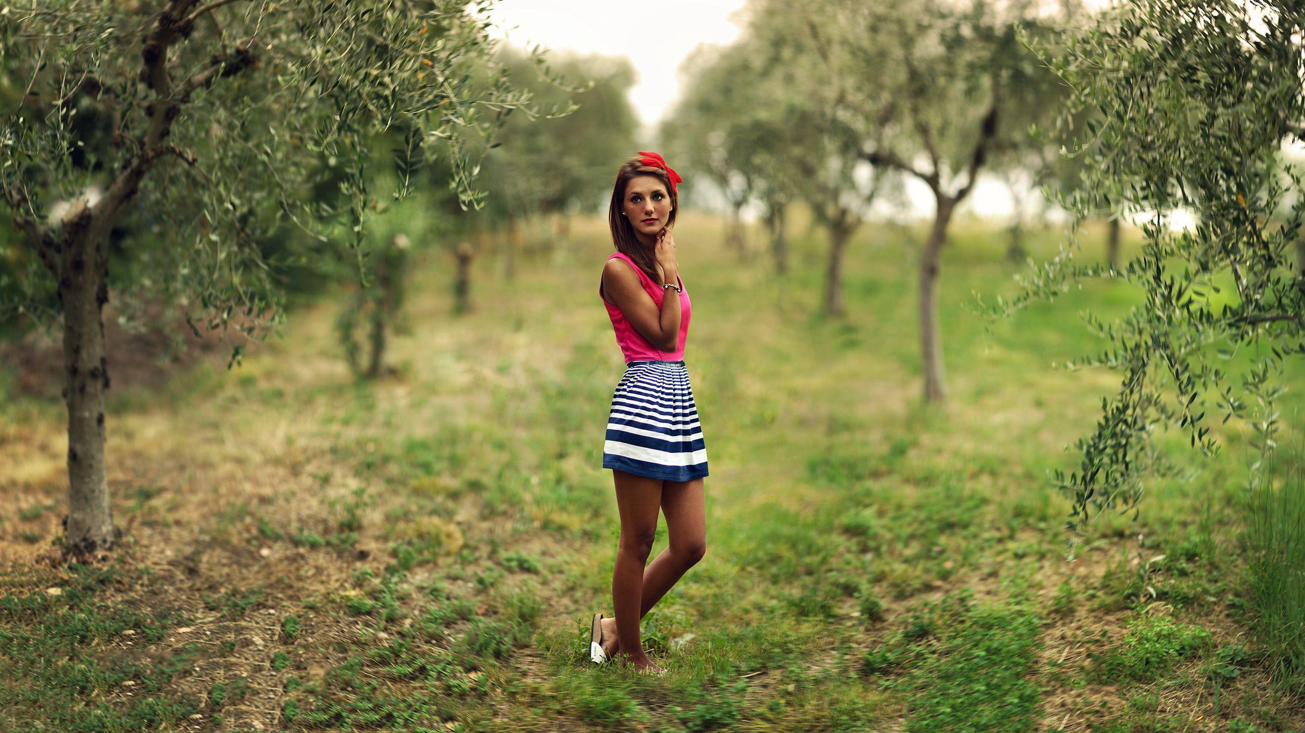 Смотреть фото девушка на природе