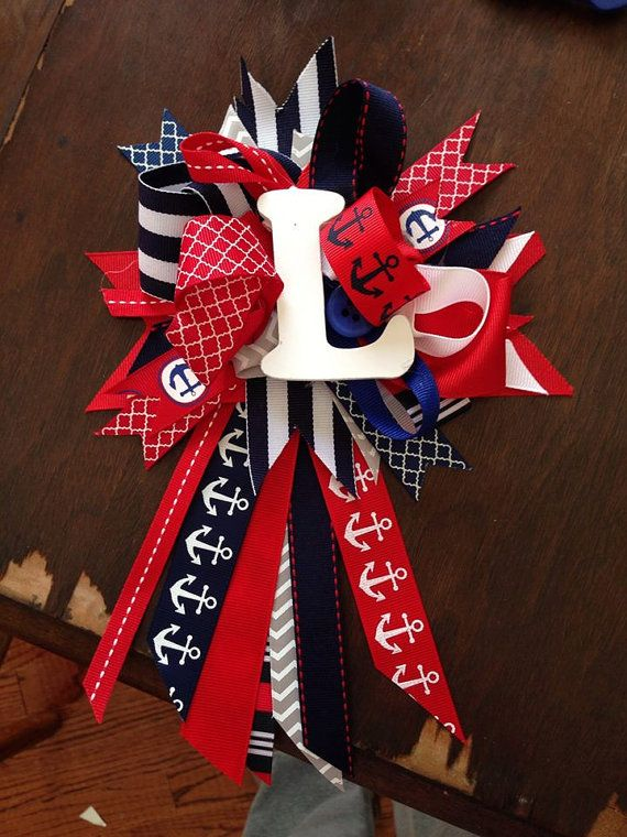 Nautical Mommy To Be Corsage Baby Shower By Bethanysbabyshop