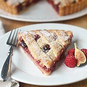 Raspberry Fig Crostata   foodraf