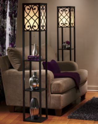 Eurico Floor Lamp With Shelves Floor Lamp With Shelves